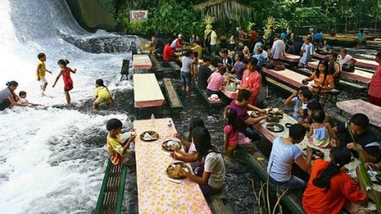 Labassin Waterfall restaurant