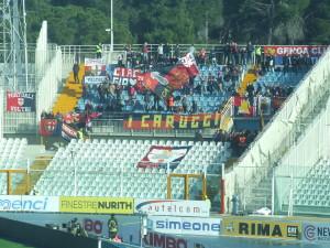 I tifosi del Genoa, all'Adriatico