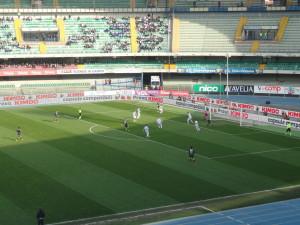 Un altro momento dell'incontro tra Chievo e Pescara