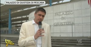 Striscia la Notizia a Pescara per il Palazzo di Giustizia