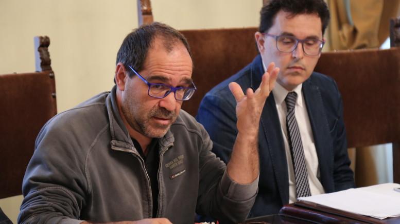 Il vice sindaco Blasioli con l'agronomo Luigi Sani