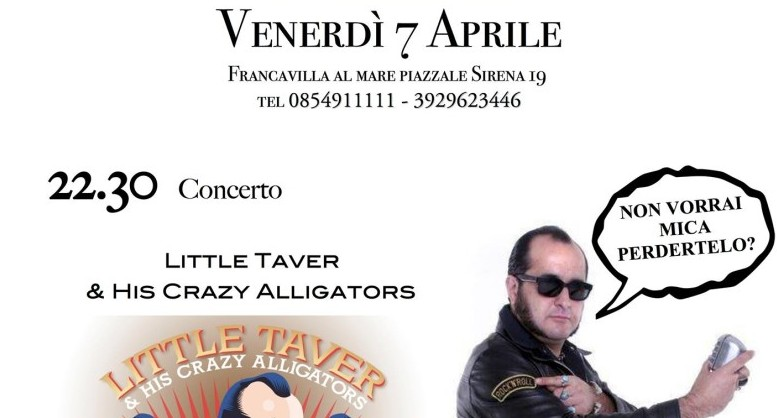 La locandina dell'evento con Little Taver