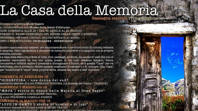 Domenica 30 aprile La Casa della Memoria a Pescara