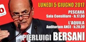 Lunedì 5 giugno Bersani in Abruzzo