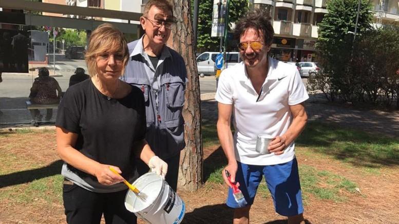 L'Associazione Kiwanis, si prende cura dei giardini di pzza Duca