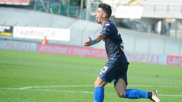 Pescara vince a Carpi. Capone, esulta dopo il gol