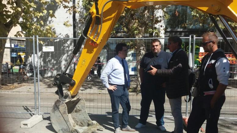 A sin. Blasioli tra i lavori anti allagamenti in viale Pindaro