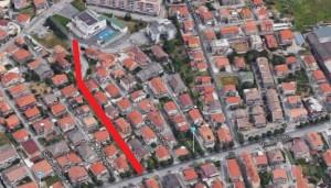 Pescara. Mappa di realizzazione bretella ai Colli