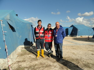 I volontari della protezione civile di Pescara