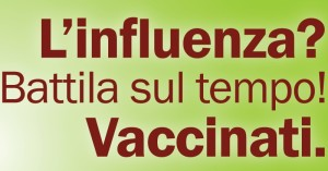 La locandina della campagna antinfluenzale