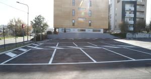 Un tratto del parcheggio di Strada Comunale Piana