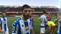 Mancuso, autore del gol festeggia a fine partita
