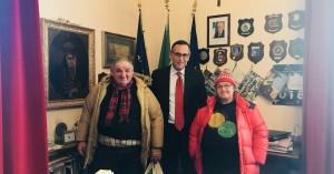 Nadia e Bartolo col sindaco Alessandrini