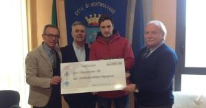 La donazione alle vittime di Rigopiano