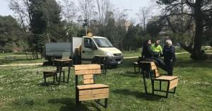 Le panchine multitasking al parco Di Cocco