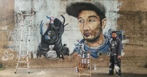 Opera di street art a Montesilvano