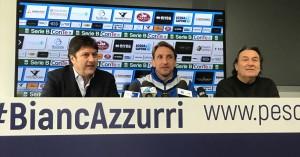 Presentazione del nuovo allenatore del Pescara, Massimo Epifani e il ritorno di Giorgio Repetto