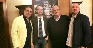 Vincenzo Olivieri insieme con l'assessore alla cultura di iacovo