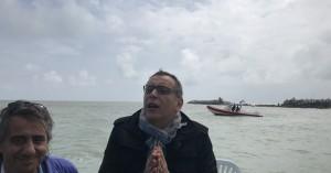 Il sindaco Marco Alessandrini, sopralluogo al porto canale