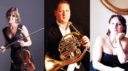 I musicisti Francesca Dego, Martin Owen e Maria Perrotta